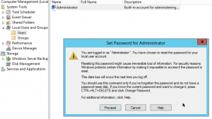 Windows 2012 Server Change Administrator Password set Password for Administrator