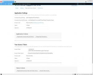 Create Twitter application: Keys and Access Token