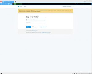 Create Twitter Application: Login