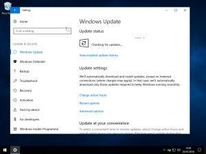 Windows 10 Windows update: check for updates