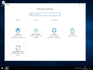 Windows 10 Windows update: Windows settings
