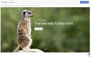 Create reCAPTCHA API keys website