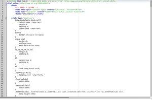 MailChimp modify line: HTML export
